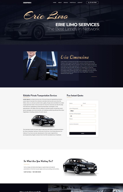 Limousine Services Elementor Template