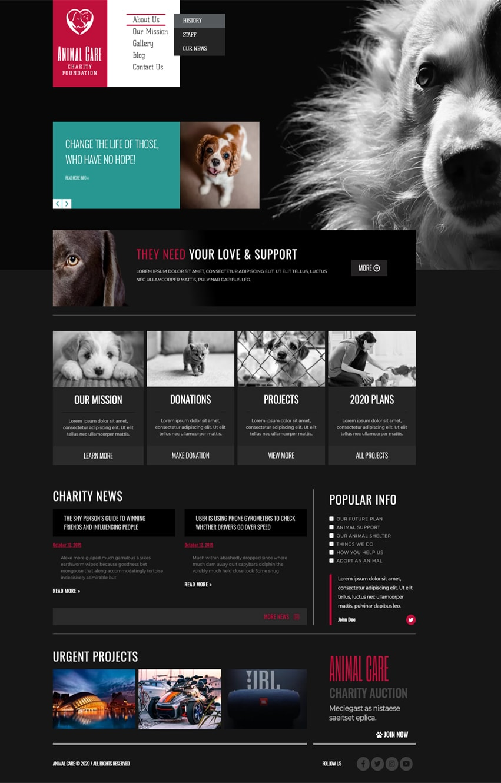 Animal Care Elementor Template