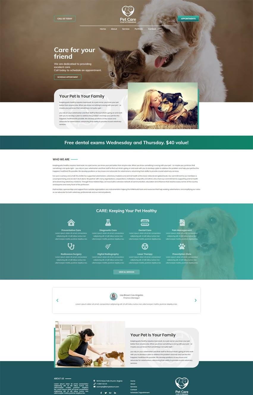 Pet Care Elementor Pro Template